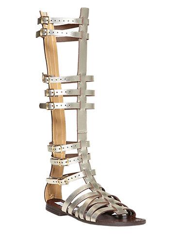 STEVE MADDENSparta Leather Gladiator Sandals