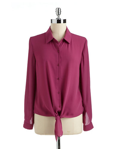 COLLECTIVE CONCEPTS Tie-Front Blouse