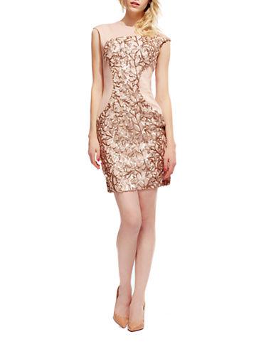 DEBBIE SHUCHATAsymmetrical-Sequined Sheath Dress