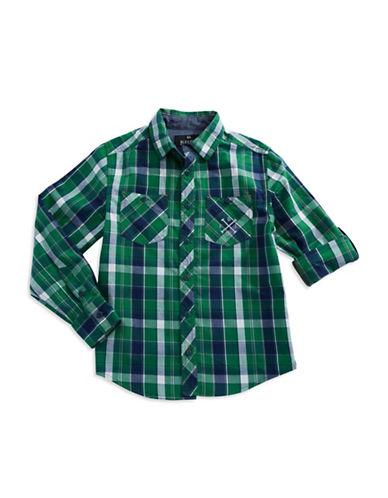 BUFFALO DAVID BITTONBoys 8-20 Plaid Sport Shirt