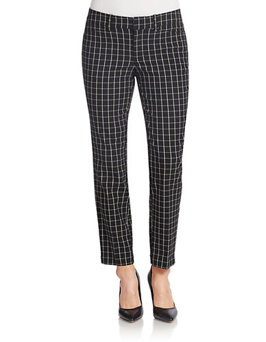 LORD & TAYLOR Checkered Ankle Pants