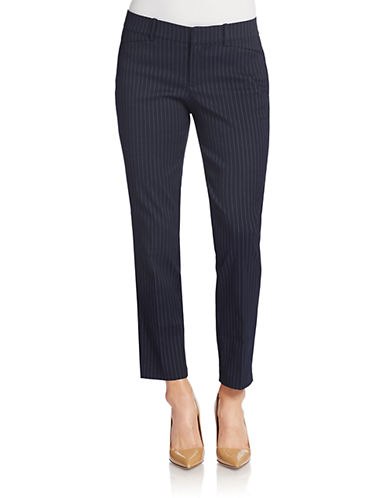 LORD & TAYLOR Kelly Pinstriped Ankle Pants