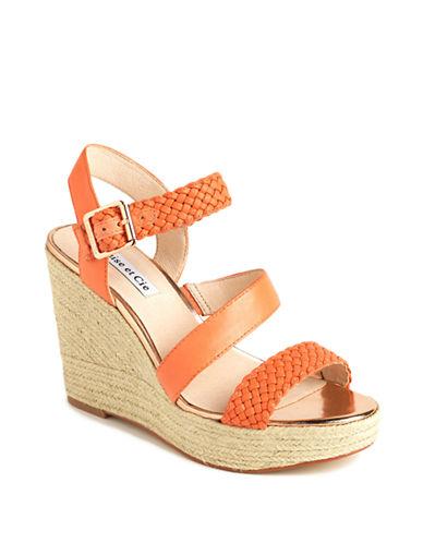 LOUISE ET CIELo-Tabby Leather Platform Wedge Sandals