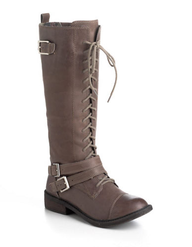 LUCKY BRANDNeel Leather Lace-Up Boots