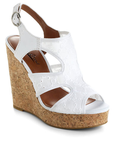 LUCKY BRAND Riedel Eyelet Platform Wedge Sandals