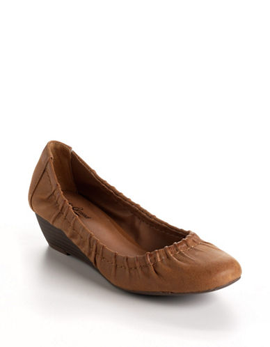 LUCKY BRAND Bombay Leather Ballet Wedges
