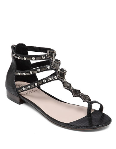 VINCE CAMUTOHanelli Embellished Synthetic Leather Sandals