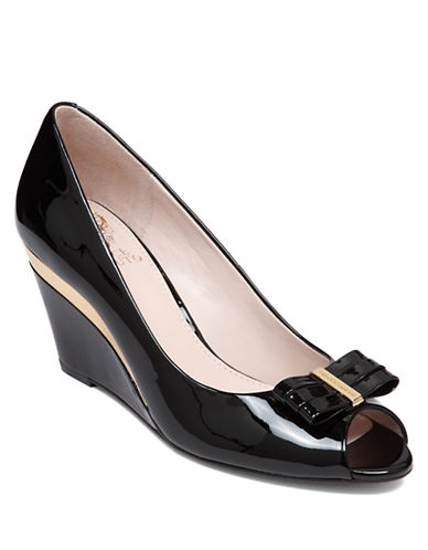 VINCE CAMUTOVeny Patent Leather Wedges