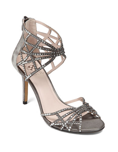 VINCE CAMUTOWari Satin and Leather Heels