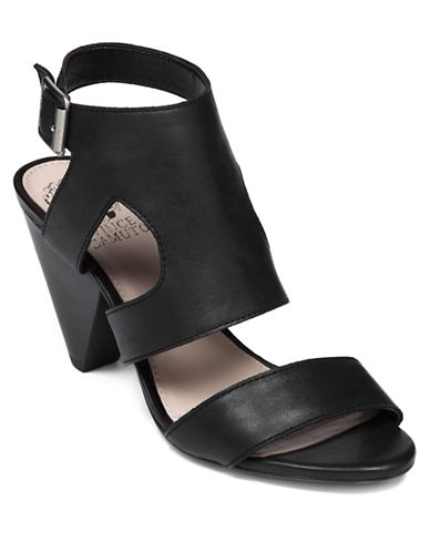VINCE CAMUTO Endell High-Heel Leather Sandals