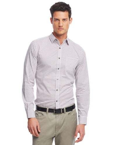 KENNETH COLE NEW YORKModern Fit Graphic Check Sport Shirt