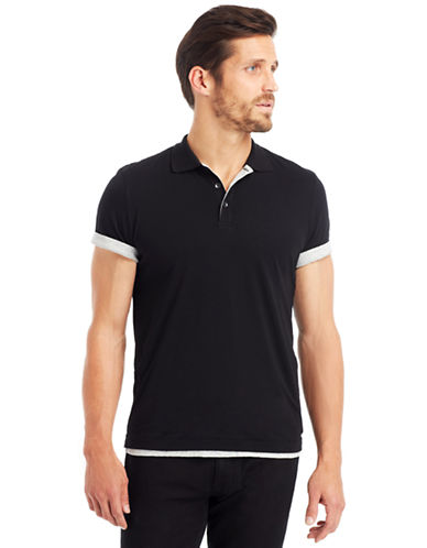 KENNETH COLE NEW YORKDouble Layer Polo T Shirt