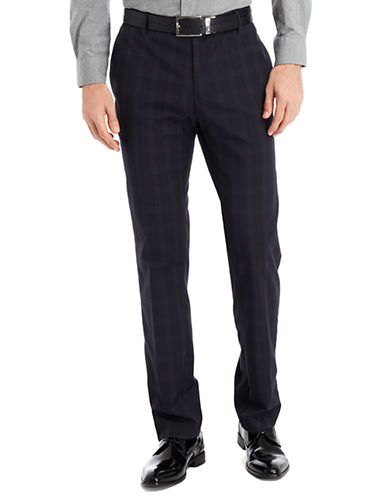 KENNETH COLE NEW YORKSlim Fit Plaid Pants