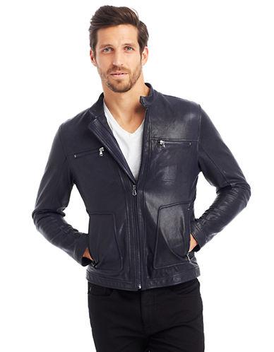 KENNETH COLE NEW YORKLeather Moto Jacket