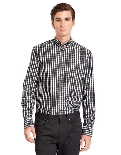 KENNETH COLE NEW YORKModern Fit Tattersall Check Sport Shirt