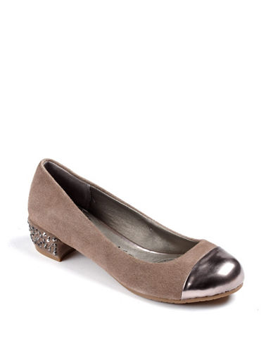 KENNETH COLE REACTION Slick Studs Suede Pumps