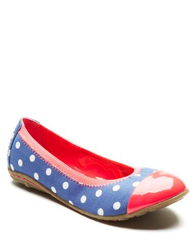 KENNETH COLE REACTIONBuck 'n Roll Polka-Dot Ballet Flats