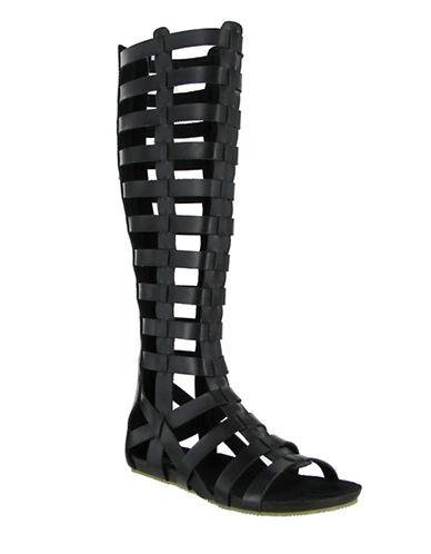 MIAGliteratti Faux Leather Sandals