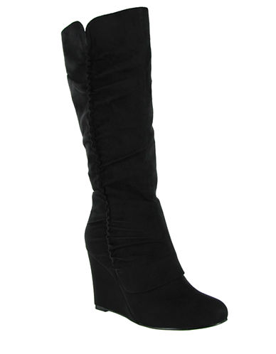 MIA Renee Faux Suede Wedge Boots