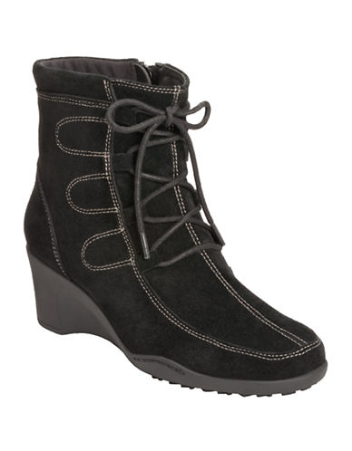 AEROSOLES Tor Guide Suede Wedge Boots