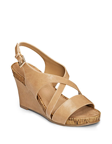 AEROSOLES Plushed Together Wedge Sandals
