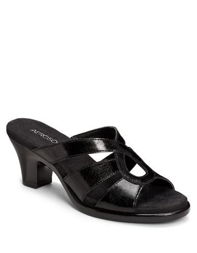 AEROSOLESTurtle Dove Leather Heeled Sandals
