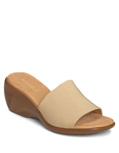 AEROSOLESOn Stage Fabric and Elastic Platform Sandals