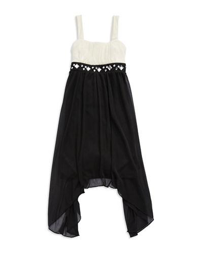 ROXETTEGirls 7-16 Jewel Accented Colorblock Dress