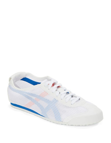 new style b86a2 97c2d UPC 887749686876 - Onitsuka Tiger Lace-Up Mesh Sneakers ...