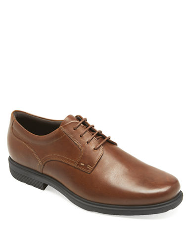 ROCKPORTLeather Style Tip Plain Toe Oxfords