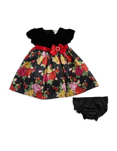 Shop Bon Bleu online and buy Bon Bleu Baby Girls Velvet and Floral Dress dress online