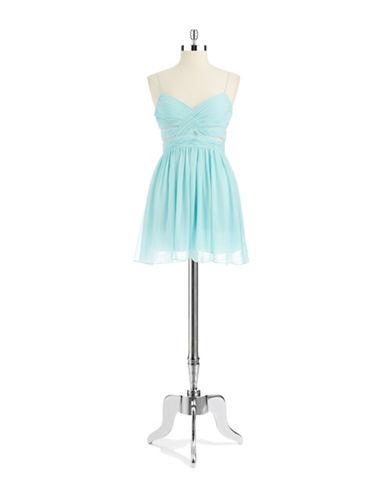 HAILEY LOGANIllusion Chiffon Party Dress