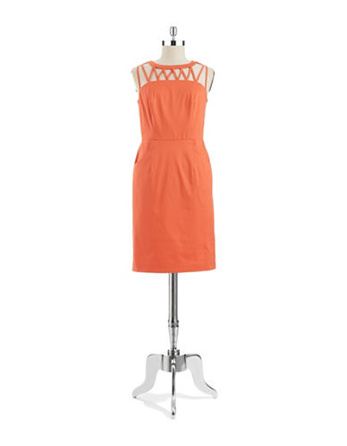 Shop Adrianna Papell online and buy Adrianna Papell Cut Out Shift Dress dress online