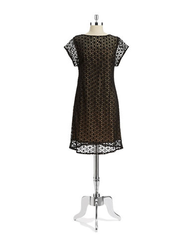 ADRIANNA PAPELLEmbroidered Shift Dress