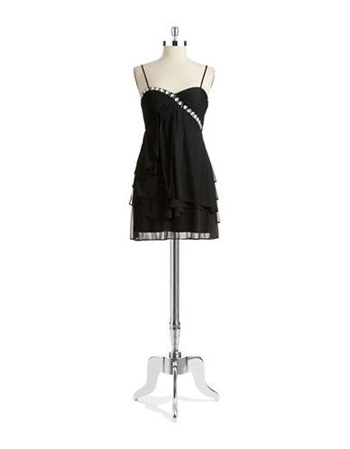 Shop Hailey Logan online and buy Hailey Logan Rhinestone Detailed Dress dress online