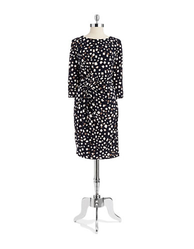 ADRIANNA PAPELLPetite Patterned Wrap Front Dress