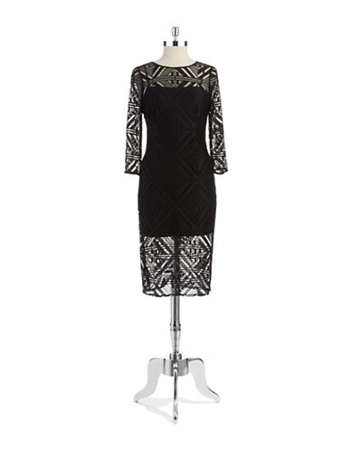 HAILEY LOGANCrocheted Knit Dress