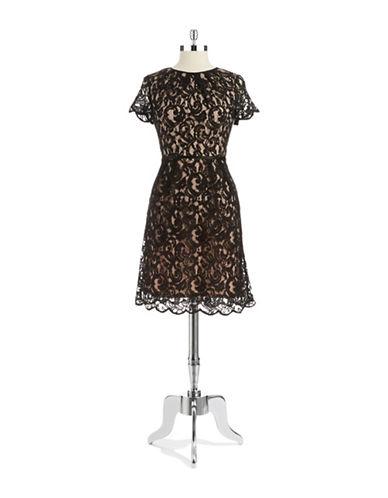 ADRIANNA PAPELLLace Overlay Sheath Dress