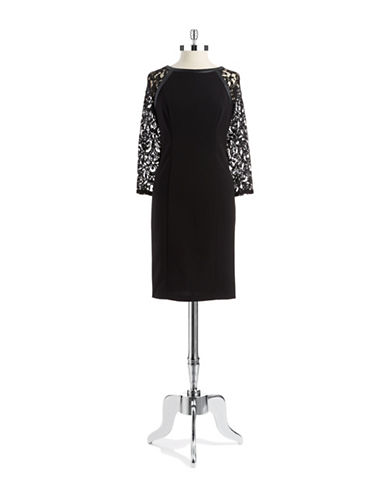 ADRIANNA PAPELLLace Accented Sheath Dress