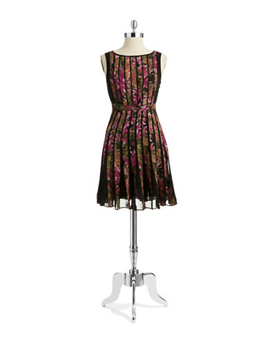 Shop Adrianna Papell online and buy Adrianna Papell Petite Floral A Line Dress dress online