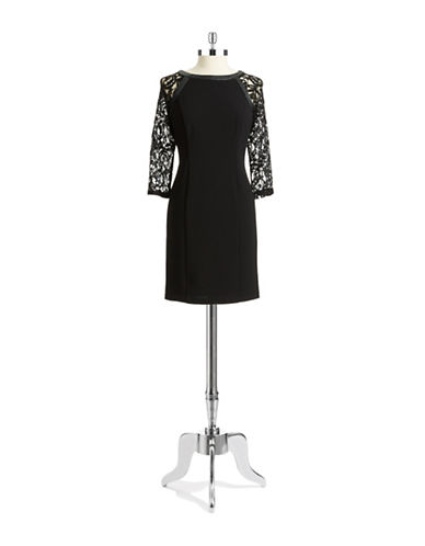 Shop Adrianna Papell online and buy Adrianna Papell Petite Raglan Lace Dress dress online
