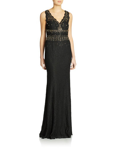 Beaded Sleeveless Gown $259.35 AT vintagedancer.com
