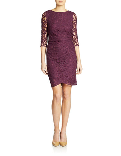 Shop Adrianna Papell online and buy Adrianna Papell Lace Cocktail Sheath dress online