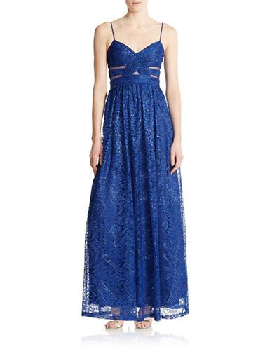 Shop Hailey Logan online and buy Hailey Logan Lace Cutout Gown dress online