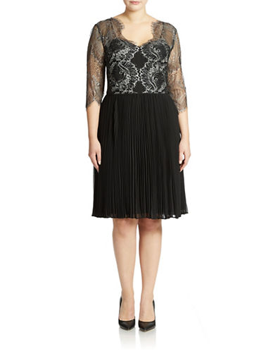 ADRIANNA PAPELLPlus Fit-and-Flare Cocktail Dress