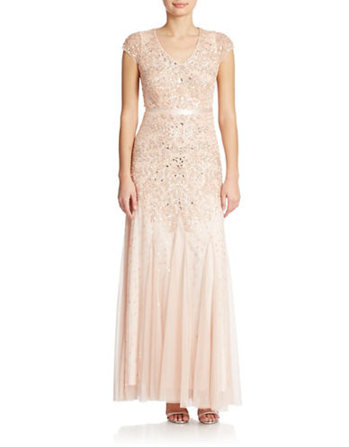 Petite Beaded Gown $224.25 AT vintagedancer.com