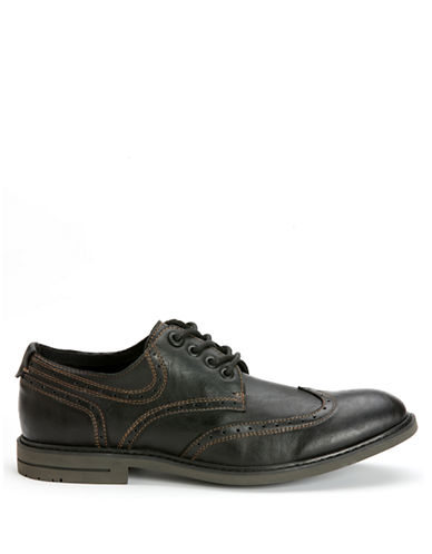 CALVIN KLEIN Milo Burnished Wingtip Oxfords
