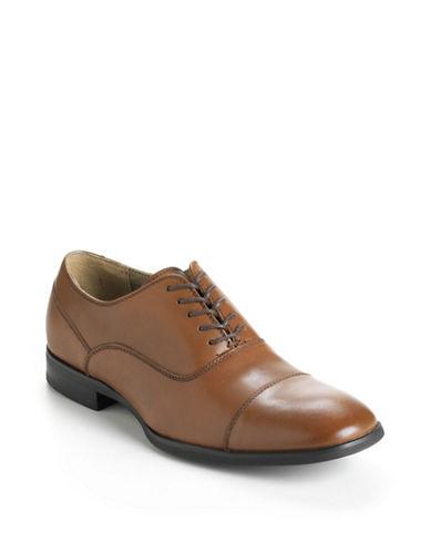 CALVIN KLEINCarlton Leather Cap-Toe Oxfords