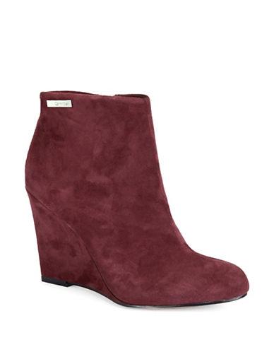 CALVIN KLEINCena Suede Wedge Ankle Boots
