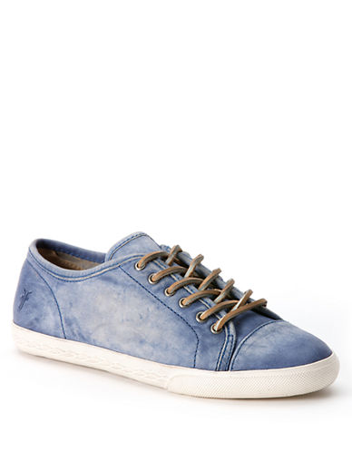 FRYE Mindy Low Leather Sneakers